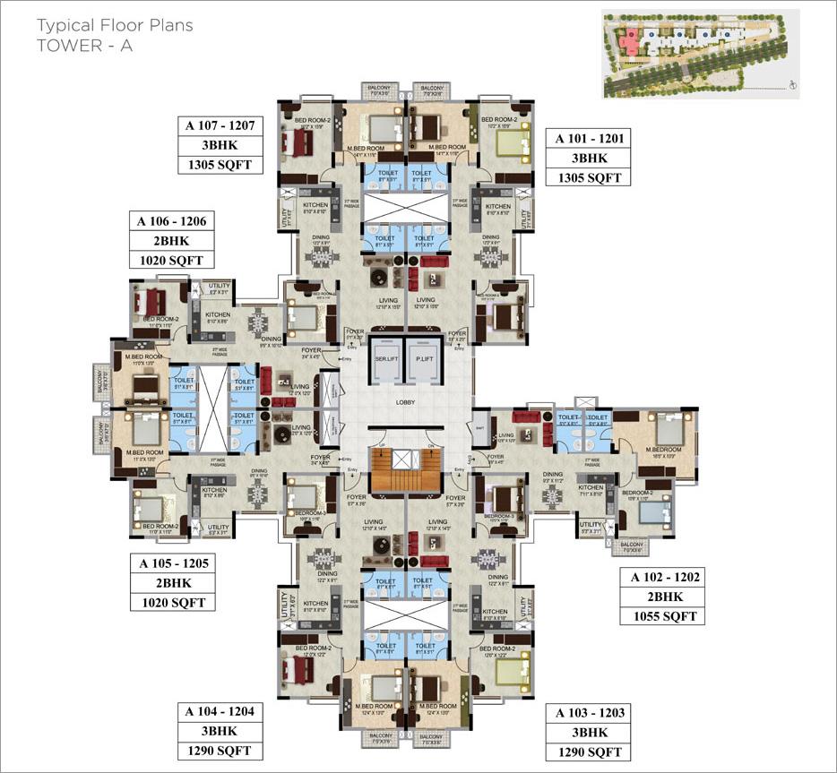 Mantri webcity bangalore for Landcraft homes floor plans
