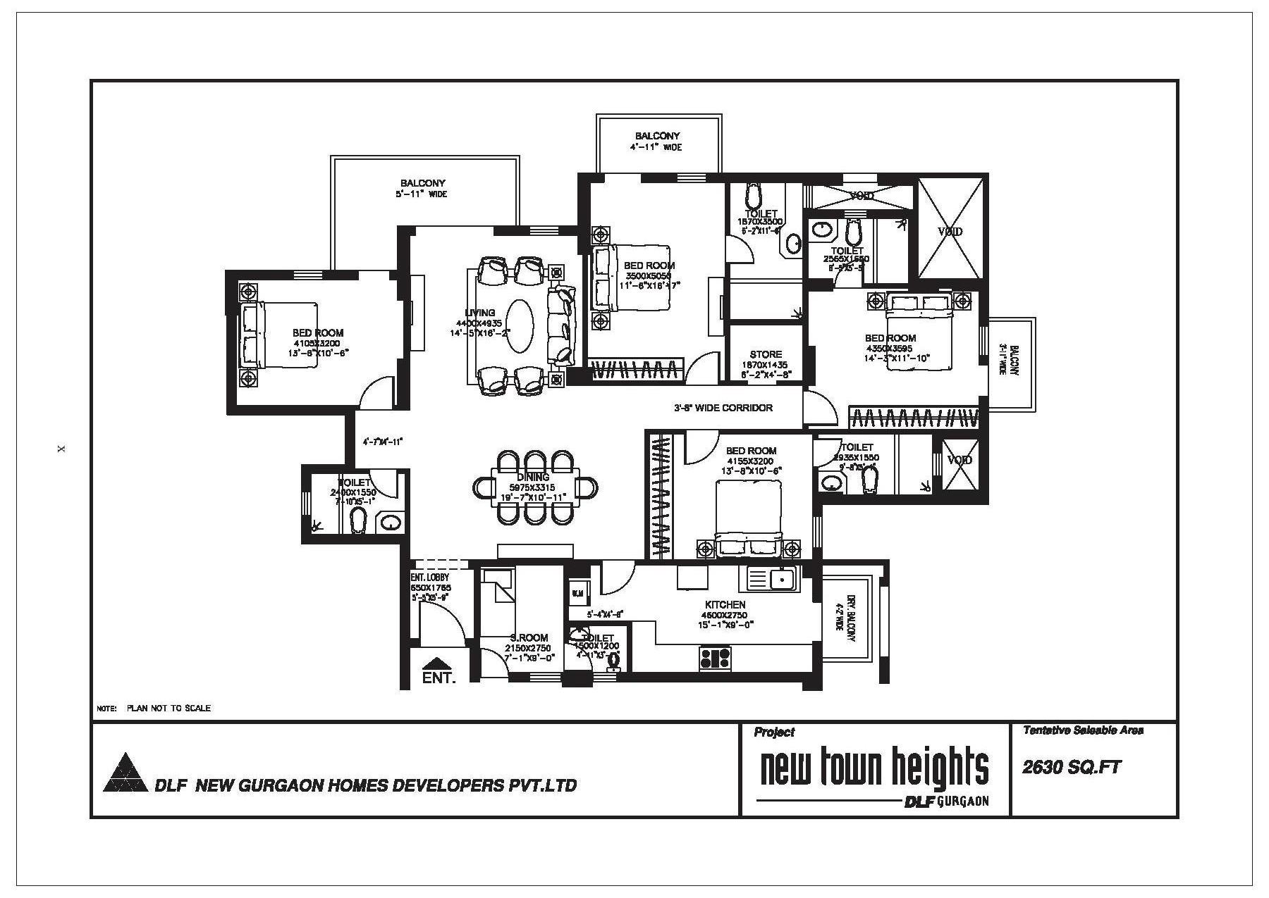 Dlf new town heights sector 86 90 91 gurgaon for Landcraft homes floor plans