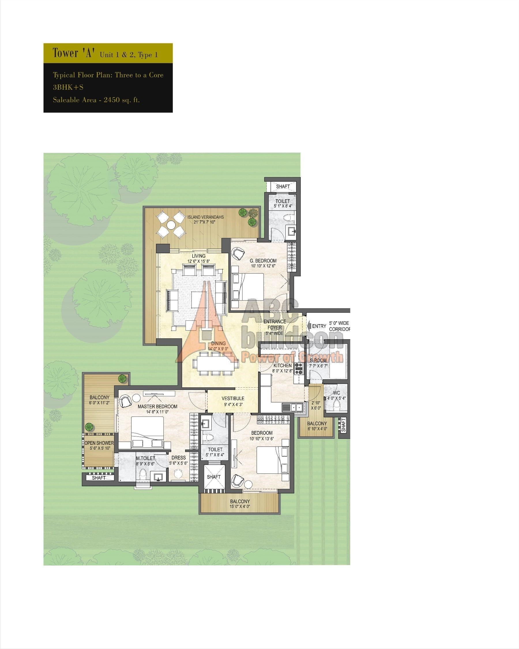 Puri emerald bay sector 104 gurgaon for Landcraft homes floor plans