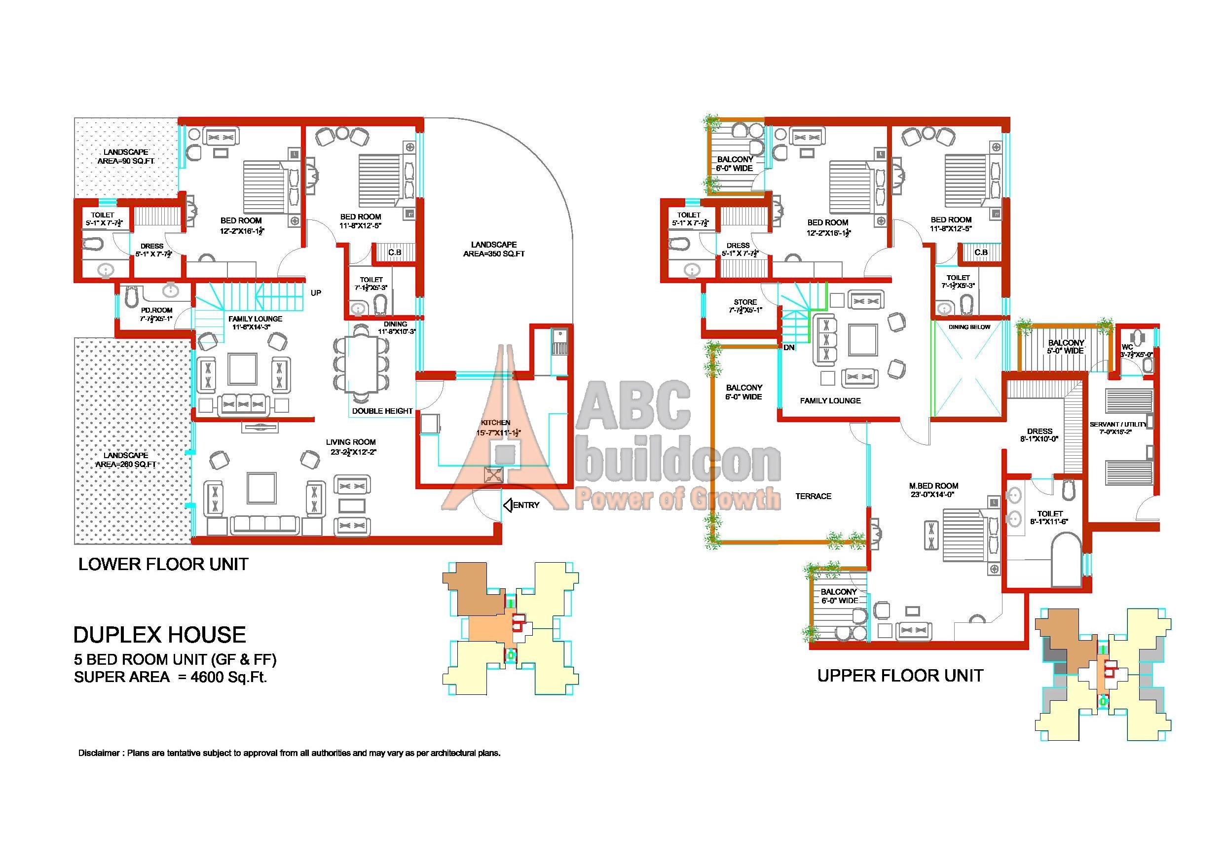 Tulip ivory sector 70 gurgaon for 5 bhk duplex floor plan