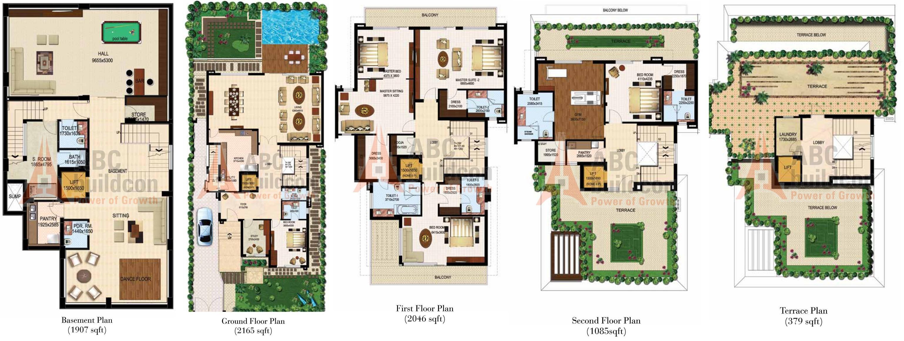 100 500 Sq Yard Home Design