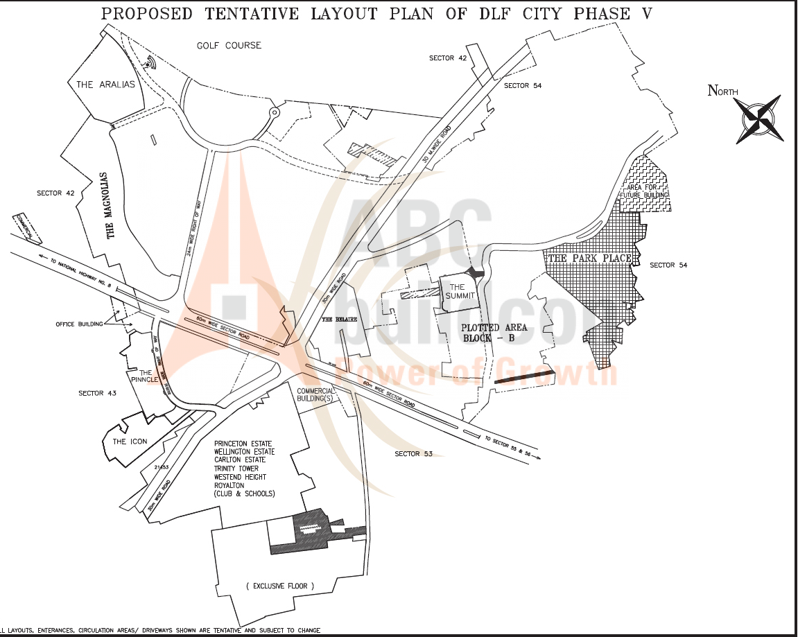 Location Map Of Dlf Park Place