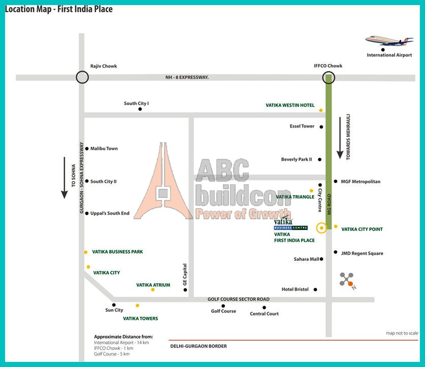 Kothi Construction Services: Location Map Of Vatika First India Place