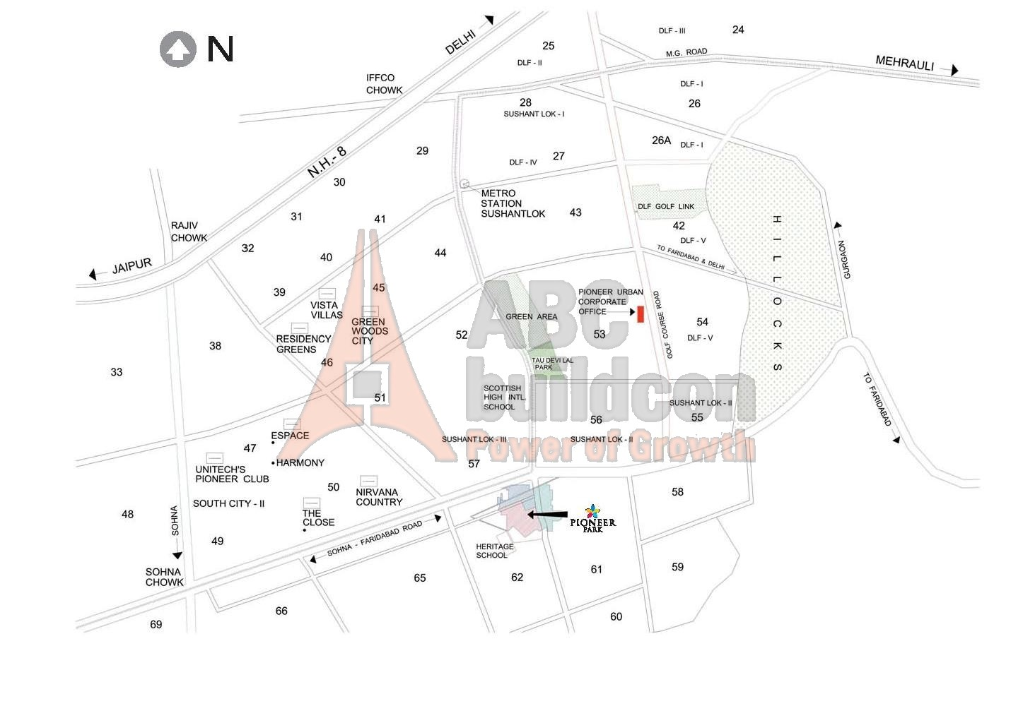 Pioneer Park Gurgaon Floor Plan Location Map Of Pioneer Urban Square