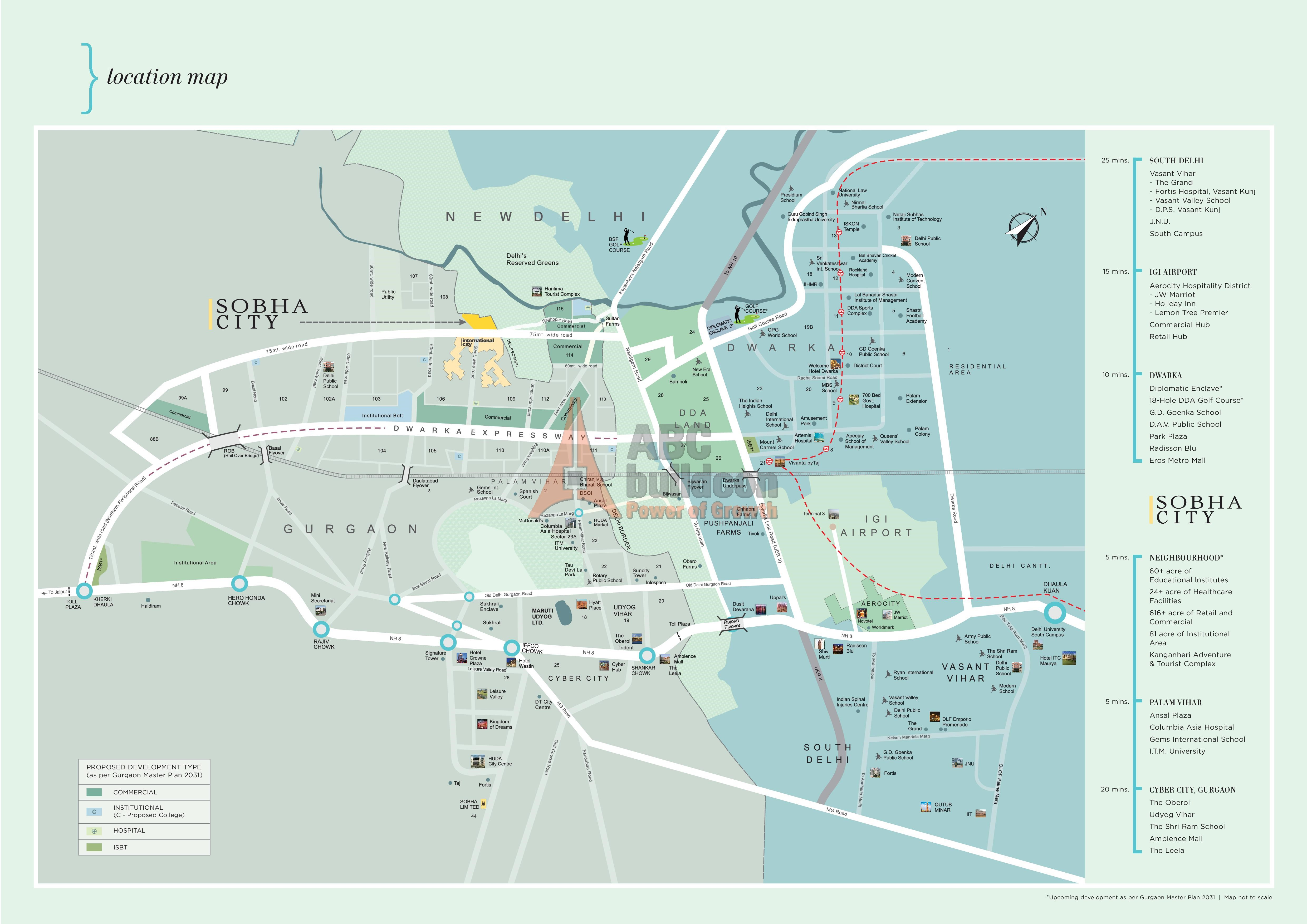 Sobha City Of Location Map